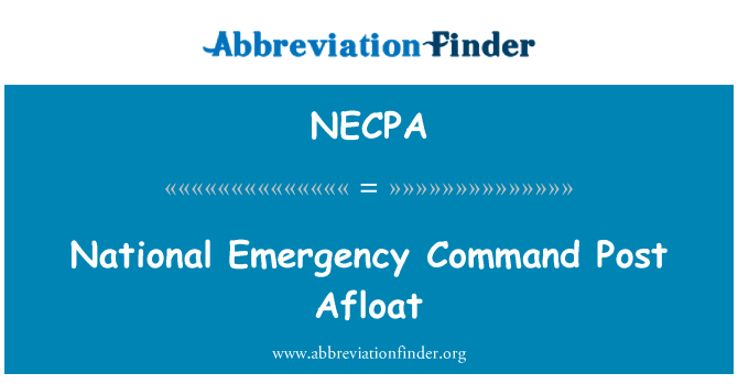 NECPA: National Emergency Command Post Afloat