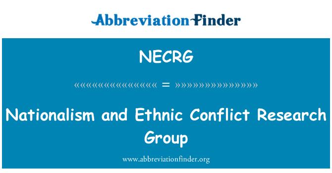 NECRG: 民族主义和种族冲突研究组
