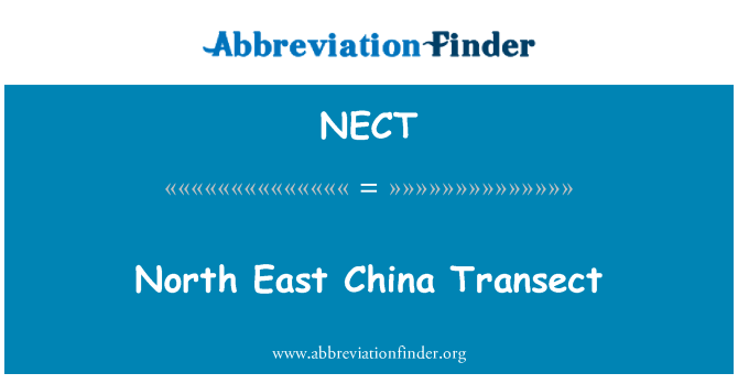 NECT: North East China Transect