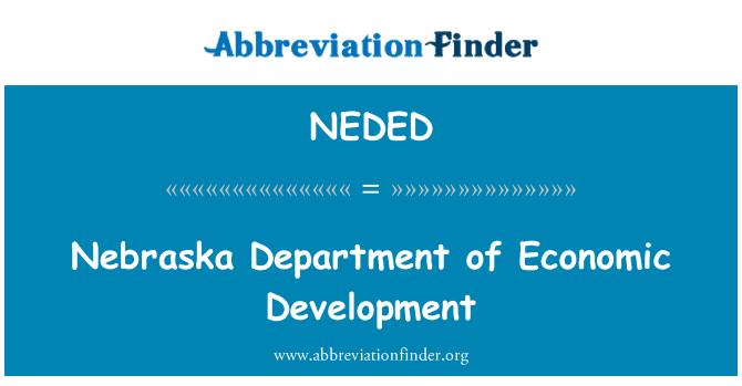 NEDED: Nebraska Department of Economic Development