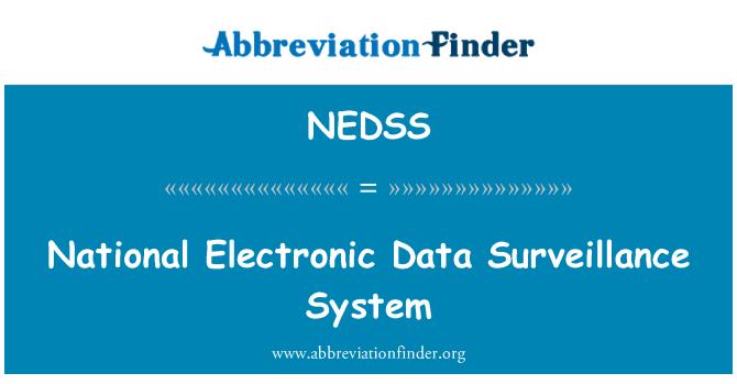 NEDSS: Sistema de vigilancia de datos electrónicos nacionales