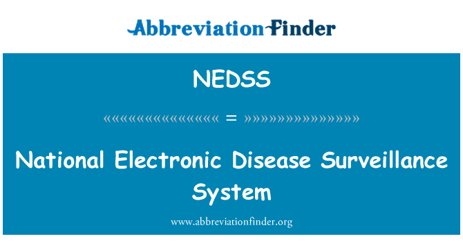 NEDSS: Sistema de vigilancia epidemiológica nacional electrónica