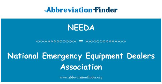 NEEDA: National Emergency Equipment Dealers Association