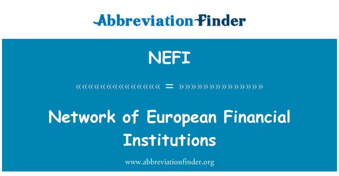 NEFI: Red de instituciones financieras europeas