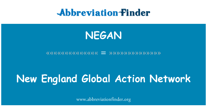NEGAN: New England Global Action Network
