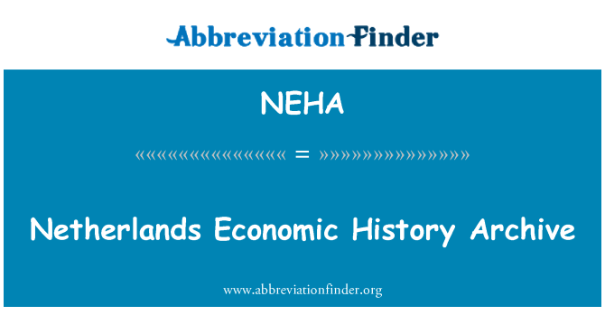 NEHA: Netherlands Economic History Archive