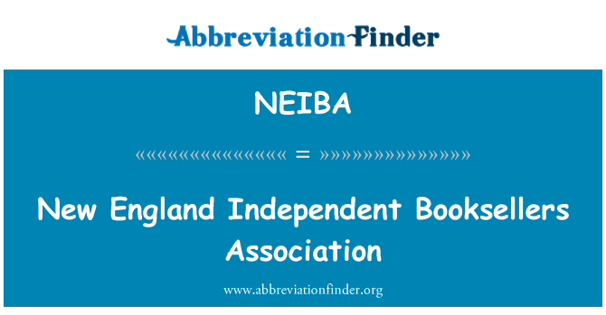NEIBA: New England Independent Booksellers Association