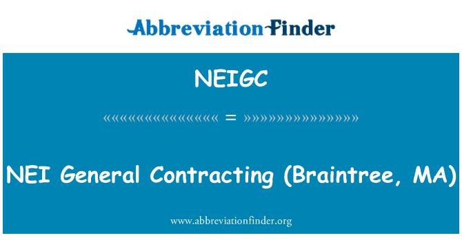 NEIGC: NEI   General Contracting (Braintree, MA)