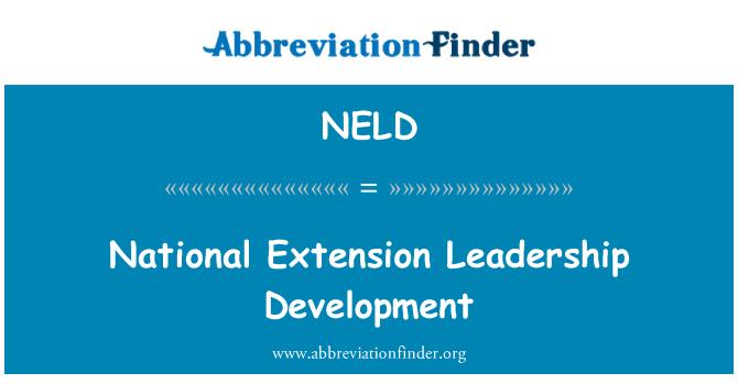 NELD: National Extension Leadership Development