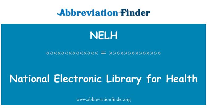 NELH: Biblioteca elettronica nazionale per la salute