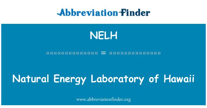 NELH: Naturlig energi laboratorium av Hawaii