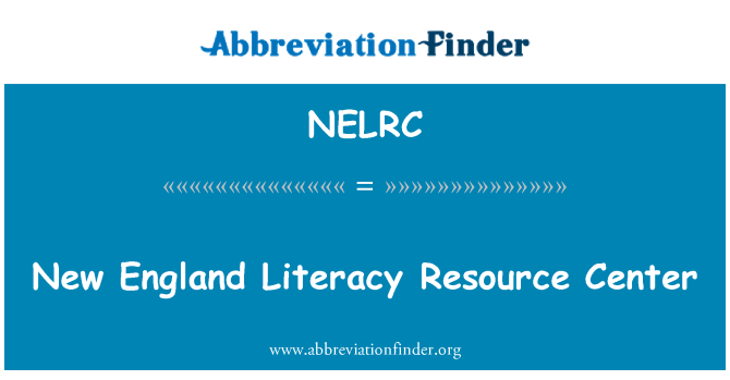 NELRC: New England Literacy Resource Center