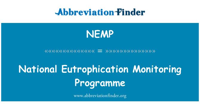 NEMP: National Eutrophication Monitoring Programme