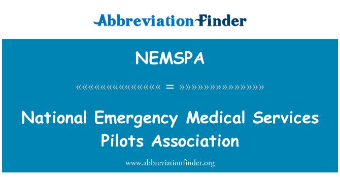 NEMSPA: National Emergency Medical Services Pilots Association
