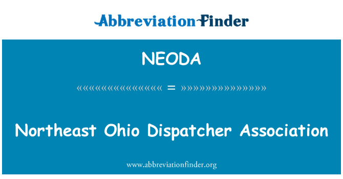 NEODA: Northeast Ohio Dispatcher Association