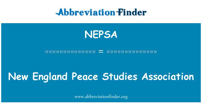 NEPSA: New England Peace Studies Association