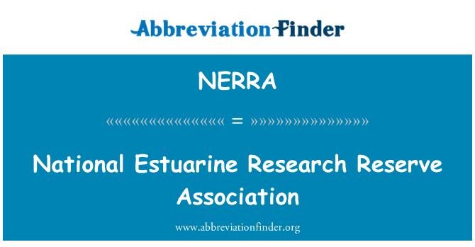 NERRA: National Estuarine Research Reserve Association
