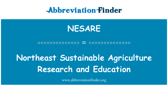 NESARE: Northeast Sustainable Agriculture Research and Education