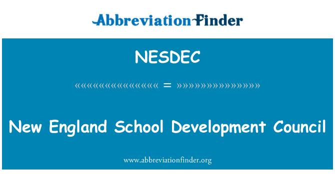 NESDEC: New England School Development Council