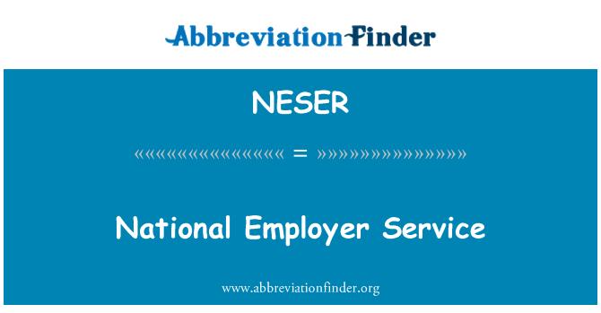 NESER: National Employer Service