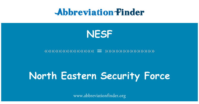 NESF: North Eastern Security Force