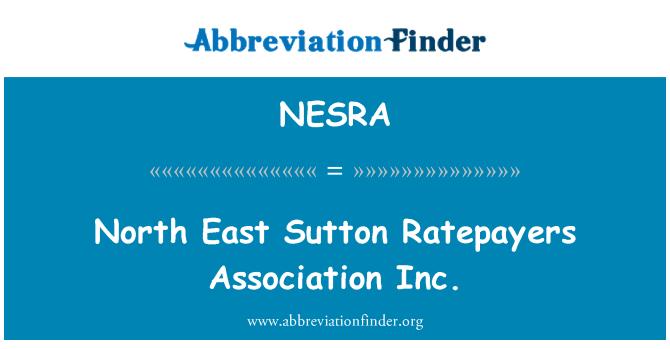 NESRA: North East Sutton Ratepayers Association Inc.