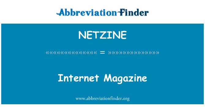 NETZINE: Internet Magazine