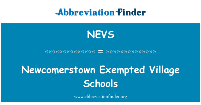 NEVS: Newcomerstown Exempted Village Schools