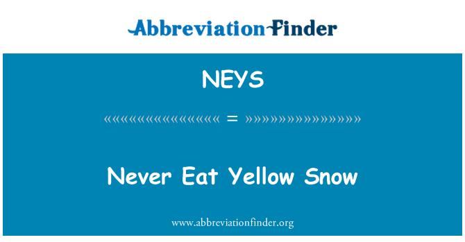 NEYS: Never Eat Yellow Snow