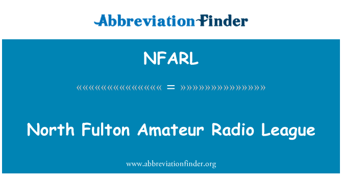 NFARL: North Fulton Amateur Radio League