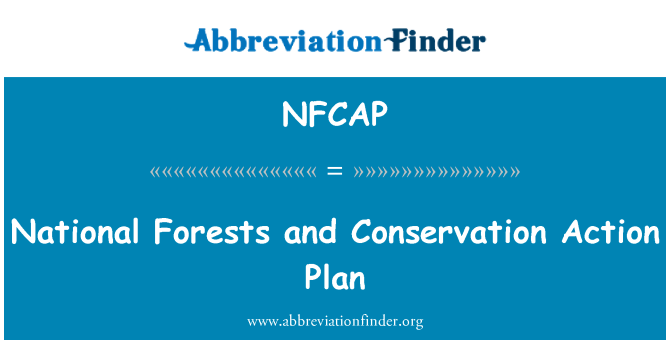 NFCAP: National Forests and Conservation Action Plan