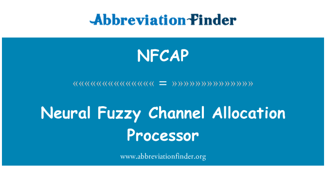 NFCAP: Neural Fuzzy Channel Allocation Processor
