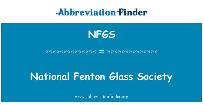 NFGS: National Fenton Glass Society