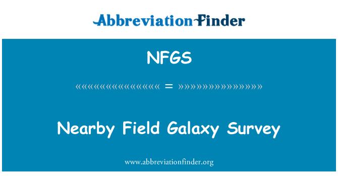NFGS: Nearby Field Galaxy Survey