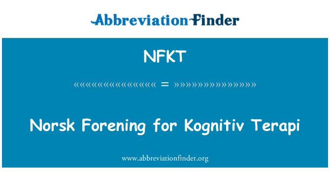 NFKT: Norsk Forening for Kognitiv Terapi