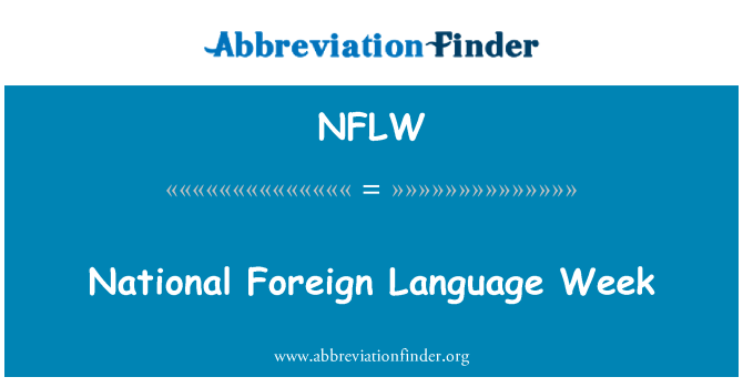 NFLW: National Foreign Language Week