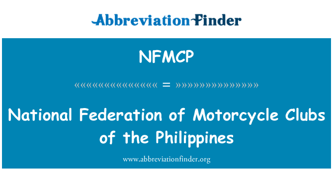 NFMCP: National Federation of Motorcycle Clubs of the Philippines