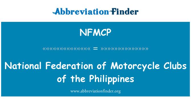 NFMCP: 菲律宾的摩托车俱乐部全国联合会
