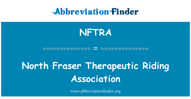 NFTRA: North Fraser Therapeutic Riding Association