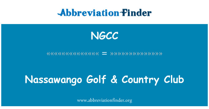 NGCC: Nassawango Golf & Country Club