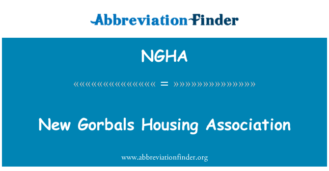 NGHA: New Gorbals Housing Association