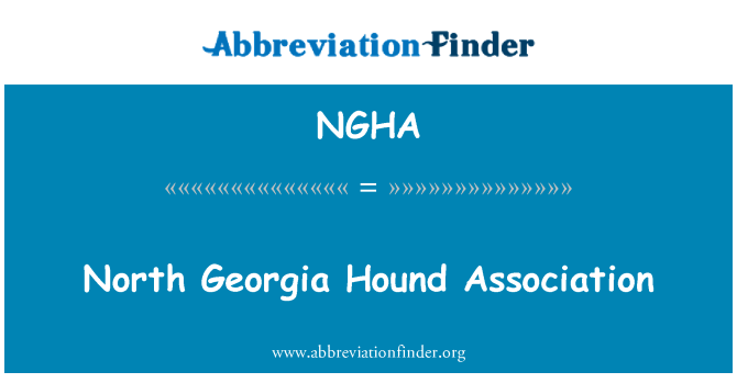 NGHA: North Georgia Hound Association