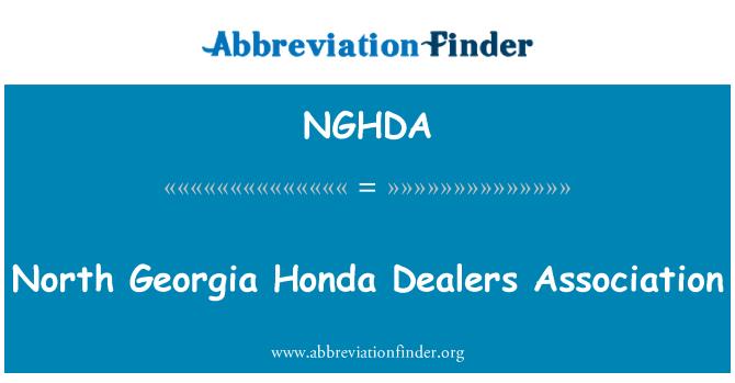 NGHDA: Asociación de concesionarios de Honda norte de Georgia