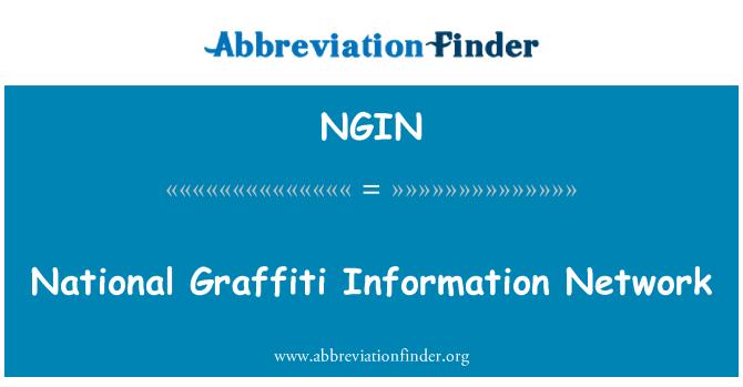 NGIN: National Graffiti Information Network