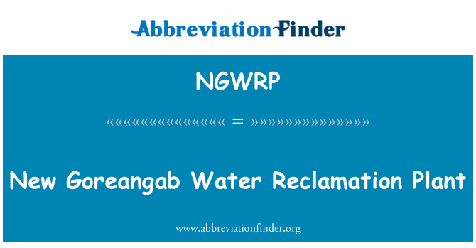 NGWRP: New Goreangab Water Reclamation Plant