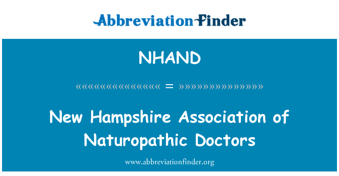 NHAND: New Hampshire Association of Naturopathic Doctors