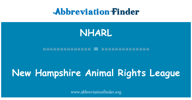 NHARL: New Hampshire Animal Rights League