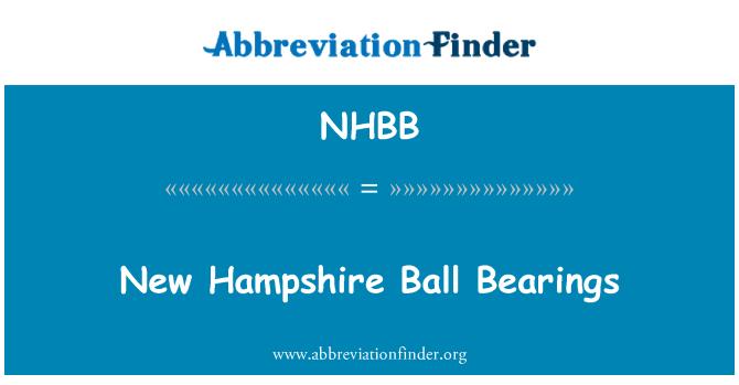 NHBB: New Hampshire Ball Bearings