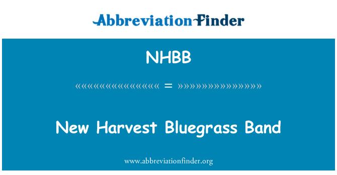 NHBB: New Harvest Bluegrass Band