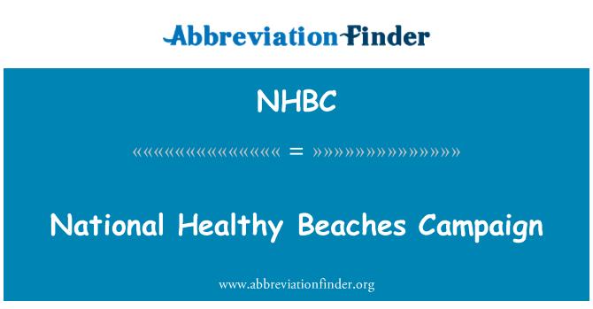 NHBC: Kampane národné zdravé pláže